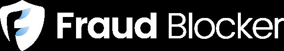 Fraud Blocker Logo - White